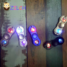 LED Decompression EDC Hand Spinner Anti Reduce Stress Fidget Toy For ADD ADHD Anxiety Autism Boring Annoying Lonely Tension Time
