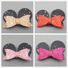 fashion mickey minnie mouse ear hair oranment pin hairpin headwear barrette accessories for children hair clip headdress lot