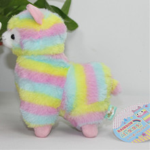 Rainbow 1pcs Alpaca Vicugna Pacos Plush Toy Japanese Soft Plush Alpacasso Baby Plush Stuffed Animals Alpaca Gifts 18cm