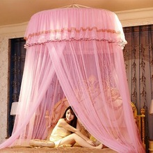 Romantic Mosquito Net Princess Insect Net Hung Dome Bed Canopies Adults Netting Lace Round Mosquito Net for Double Bed