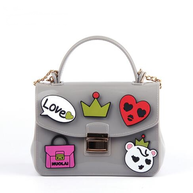 Women Designer Shoulder Bags Ladies Mini Transparent Jelly Flap Bag Girls Cute Cartoon Chains Beach Bag bolsos Femininas<br><br>Aliexpress