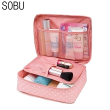 Waterproof Portable Cosmetic Bag Women Travel Make up Toiletry Bag of Makeup Case Cosmetic Bag Organizer Accessories M1047(China)