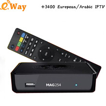 Arabic IPTV MAG254 IPTV Box IP TV Arabic Europe Albania IPTV Spain Brazil 3400 Channels Linux 2.6.23 STiH207 MAG 254 Set Top Box