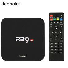 Docooler R39 Smart Android 6.0 TV Box RK3229 Quad Core UHD 4K 1G / 8G Mini PC WiFi H.265 HD Media Player EU/US Plug(China)