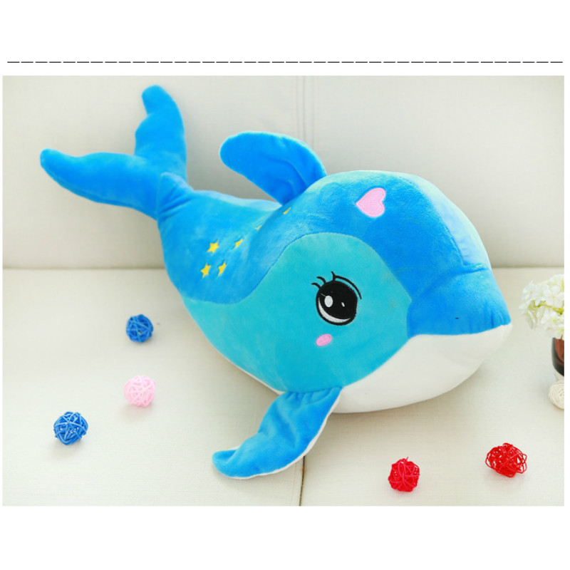 Kawaii 40cm Dolphins Plush Toys 2 Colors Kids PP Cotton Stuffed Animals Toys Home Soft Cushion<br><br>Aliexpress