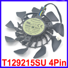 85mm EVERFLOW T129215SU DC 12V 0.5A PWM 4Pin GPU VGA Cooler Fan Replacement For ASUS GeForce GTX 670 760 970 DC MINI Cooling Fan