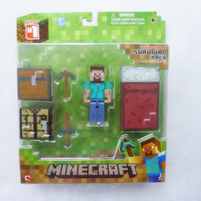 KK01--Minecraft Overworld Series 1 Survival Pack Steve By Jazwares New in Box