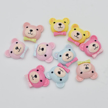 100pcs Mix Resin Hand-paint Mr.bear Flatback Stone Child Scrapbook Buttons Craft F218*10(China)