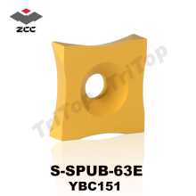 Original ZCC.CT S-SPUB-63E YBC151 Tungsten Carbide burring turning Insert cutter Chip removing steel tube pipe(China)