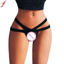Buy 2018 Hot Selling Women Sexy Lingerie Mesh Briefs Summer Low Rise Bandage Thong G-String Underwear Panties Thongs Knickers #15