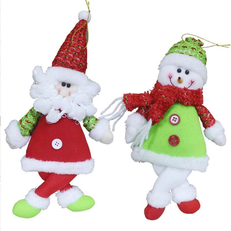 Santa Claus Snowman Dolls Pendant Christmas Tree Decorative Accessories Xmas Party Ornaments Decorations Home 3