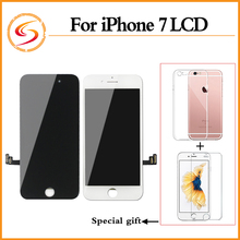 2PCS/LOT Grade AAA+++ For iPhone 7 LCD Replacement With Touch Screen Digitizer Assembly 100% No Dead Pixel Display Free Shipping