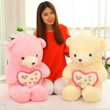 40cm Cuddly Love Teddy Bear Cushion Pillow Toy Soft kids dolls &stuffed Toy girls Plush Dolls Animals Toys Birthday Gifts MR104
