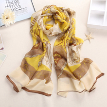 Fashion Knife Chain Style scarf Elegant Lady Wrap Women's Shawl Soft Chiffon Scarf Scarves(China)