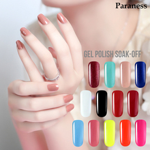 Paraness Semi permanent 8ml Gel Polish Nails UV Gel Lucky 29 Colors Soak Off Gel Lacquer Nail Polish The Glue On Nails