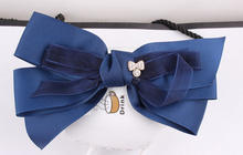 Free Shipping Women's big bow with velvet hairpins girl's lovely fashion hair clips hair Korea accessories
