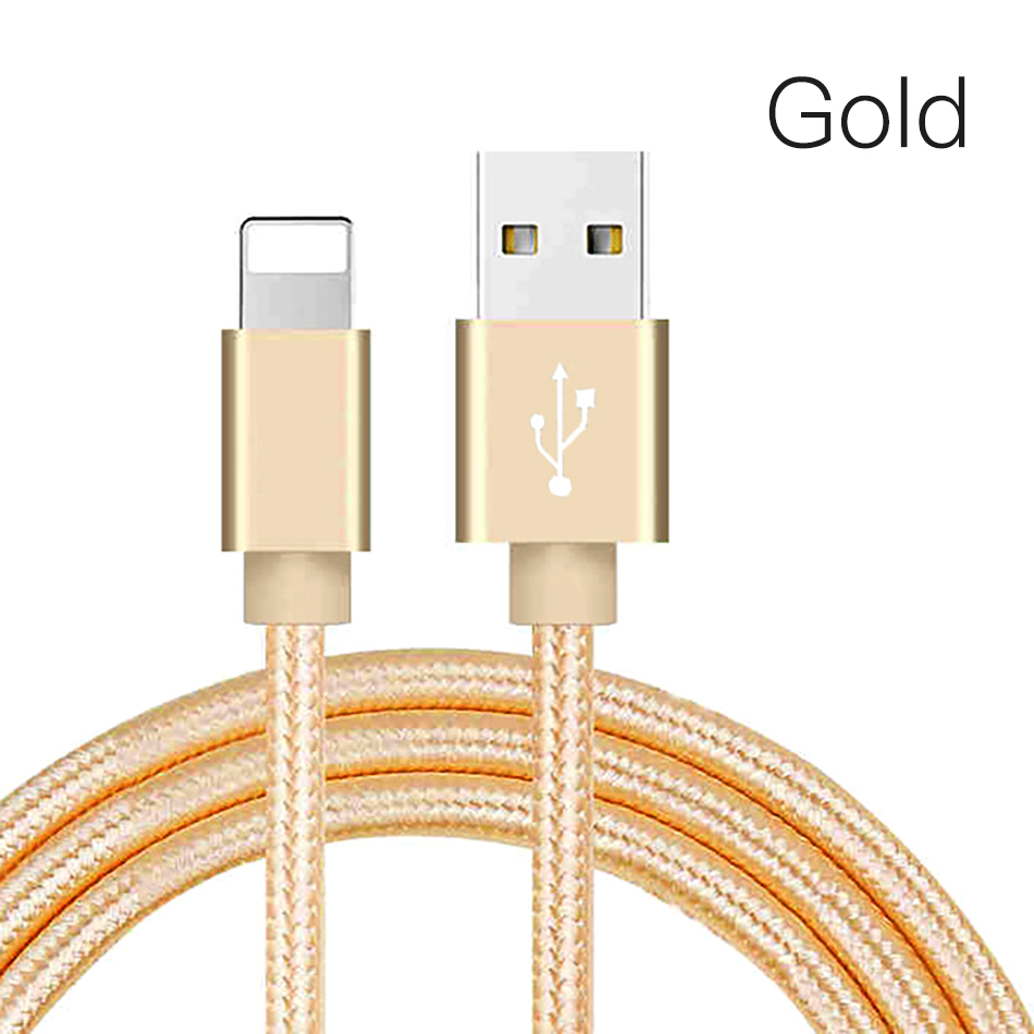 !ACCEZZ Nylon USB Charger Cable 2A For iPhone XR XS Max 7 8 6 6S 5S Ipad Mini Lighting Mobile Phone Data Fast Charge Cables Cord (11)