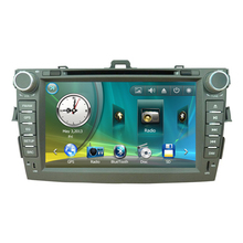 "8"" Car Radio DVD GPS Navigation Central Multimedia for Toyota Corolla 2007 2008 2009 2010 2011 RDS Phonebook Bluetooth Handsfree(China)"