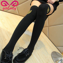 GIRLADY Women Thermal In Winter Stockings Thigh High Very Thick European College Badge Long Stockings Warm Stockings Female(China)