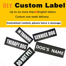 2ps Personalized Velcro Customized Dog Harness Label Name Custom Tag DIY Logo Pet Harness Collar Agility Dock Diving Sport Dog