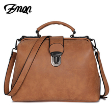 ZMQN Vintage Bags For Women Famous Brands Matte Skin Retro PU Leather Handbags Doctor Shoulder Bags Girl Sac A Main Femme C221(China)