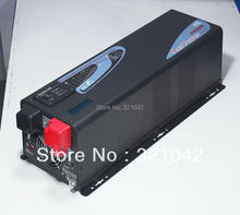 free shipping,LCD display peak power 9000W inverter APC 3000W pure sine wave inverter,DC input 12V/24V/48V to AC220V 20A charger