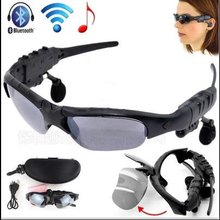 Sports Stereo Sunglasses Wireless Bluetooth 4.1 Headset Telephone Polarized Driving Sunglasses / mp3 Riding Eyes Glasses(China)