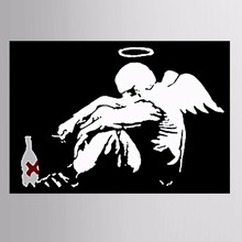 1Pieces/set Black and white wings graffiti Canvas Painting Sitting Room Decoration Print Canvas Pictures Framed or Unframed(China)