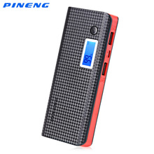 PINENG PN-968 10000mAh Mobile Power Bank Dual USB Charging External Battery Charger Portable Battery with Flashlight Poverbank