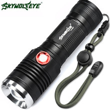 skywolfeye ZOOMABLE CREE XM-L2 U2 LED 3 Mode 26650/18650 USB Rechargeable Flashlight Torch L61216