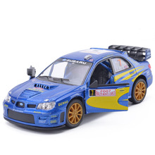 Hot New 1/36 Scale Car Model Toys Subaru Impreza WRC 2007 Racing Car Diecast Metal Pull Back Car Model Toy For Kids Gift