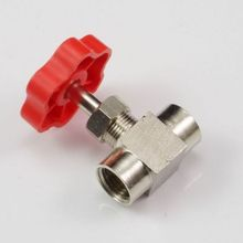 "new! 1/4"" BSPP Nickel-Plated Brass Threaded Needle Valve(China)"