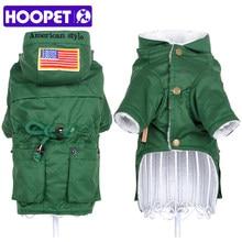 HOOPET perro chaqueta ropa para mascotas uniforme cálido abrigo de algodón  acolchado ropa de estilo de otoño e invierno 78d2ef0e8df8f