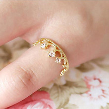 R221  Fashion Crown Flower Ring For Women Rings Jewelry Anillos Anel Lady wholesales Accessories