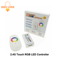 RGB LED Controler 2.4G Touch DC12-24V 18A RGB Remote Controller for RGB LED Strip.