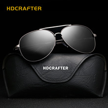 HDCRAFTER 2017 retro black aviation sunglass Men Polarized sun glasses mens sunglasses brand designer glasses UV400 E025