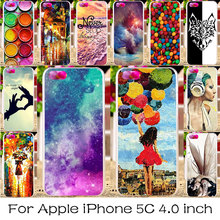 TAOYUNXI Silicone Plastic Mobile Phone Case For Apple iPhone 5C iphone5C Cover Skin Bag Shell For iPhone 5C DIY Painted Cases(China)