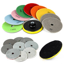 10pcs/set High Quality Diamond Polish Pads 4 inch M14 Polishing Wheel Set Stone Concrete Marble Tool(China)