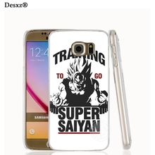 Desxz 17451 Training to go Super Saiyan Dragon ball Z cell phone case cover for Samsung Galaxy S7 edge PLUS S6 S5 S4 S3 MINI(China)