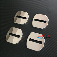 Car Door Lock Cover Buckle Clip Special Protective Caps Case Trim Stainless Steel 4P For Volvo XC60 V60 S60 S60L 2014 2015