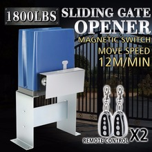 800kg Sliding Gate Opener Electric Operator Driveway Door Slide Roller Chain Driven