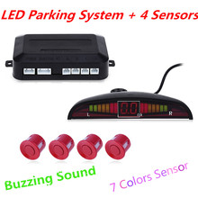 Universal Car LED Parking Sensor Kit Display 4 Sensors Parking Assistance 12V Car Reverse Assistance Backup Radar Monitor System