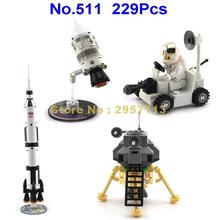 Enlighten 511 229pcs Moon Landing Survey Rocket & Satellite Building Block Brick Toy