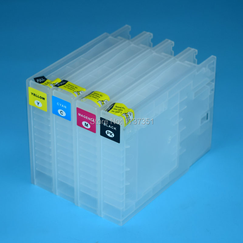 For Epson WorkForce WF-8010 WF-8090 WF-8510 WF-8590 refill ink cartridge 4 color for Epson T7551-T7554 Europe version<br>