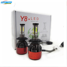 CARSUN Y8 80W/Pair 12000Lm/Pair Headlight Of Four Imports Of CSP Headlights H7 H1 H4 H8 H11 9005 9006 Car Led Lights