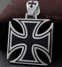 Men's charm 316L Stainless Steel Huge Big Chopper Cross Pendant PN89(China)
