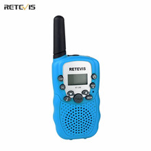1 pcs 5 Colors Mini Walkie Talkie 0.5W UHF Europe Frequency 8CH 446MHz LCD Display Portable Radio Retevis RT388 Toy Radio J7027