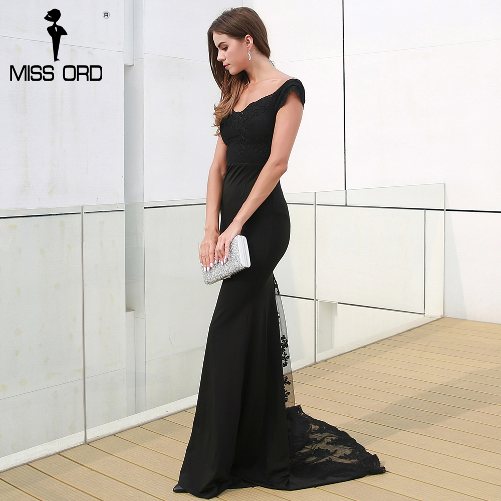 فستان سهرة  Missord جذاب مع ذيل وذو تصميم مميز 4