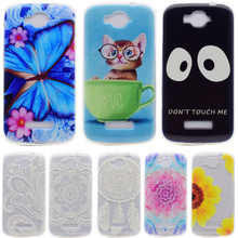 For Alcatel One Touch Pop C7 Case TPU Cat Flower Design Phone Skin Cover For Alcatel One Touch Pop C7 OT 7040 7040D OT7040 7041D