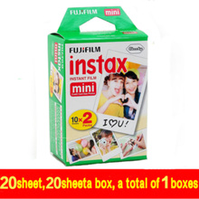 20pcs/box fujifilm instax mini 8 film 20 sheets for camera Instant mini 7s 25 50s 90 Photo Paper White Edge 3 inch wide film